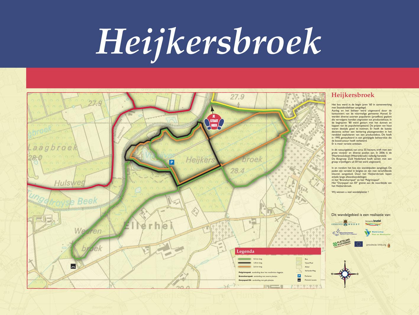 Wandelroute Heijkersbroek Ell 2