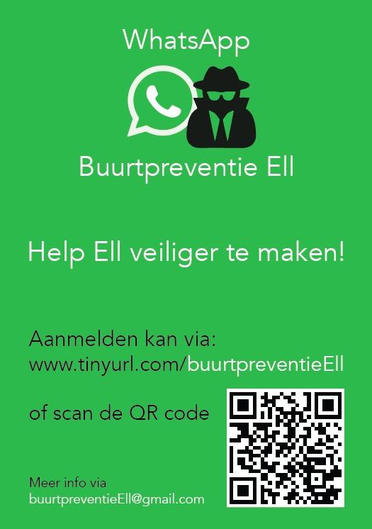 Poster Buurtpreventie WhatsApp