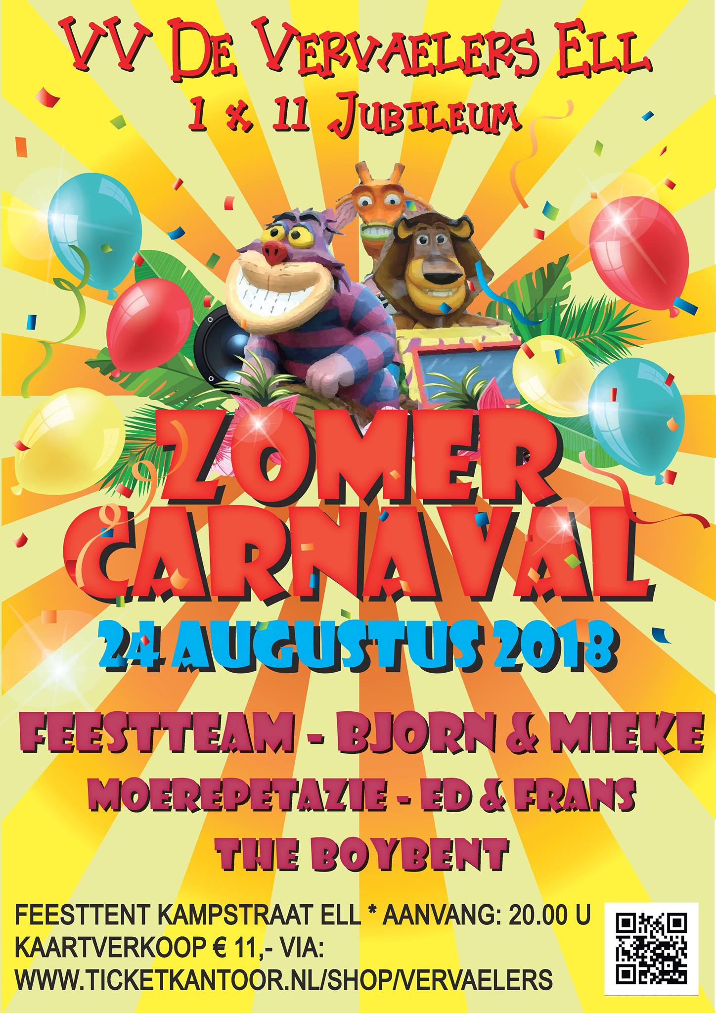 Zomercarnaval Vervaelers