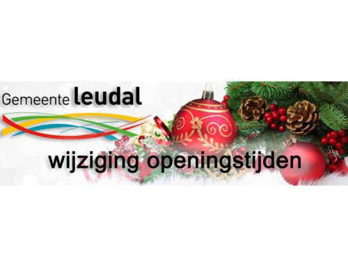 Gewijzigde openingstijden Gemeentehuis rondom de kerstdagen