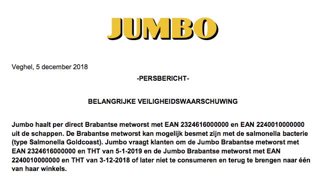 Jumbo Brabantse Metworst